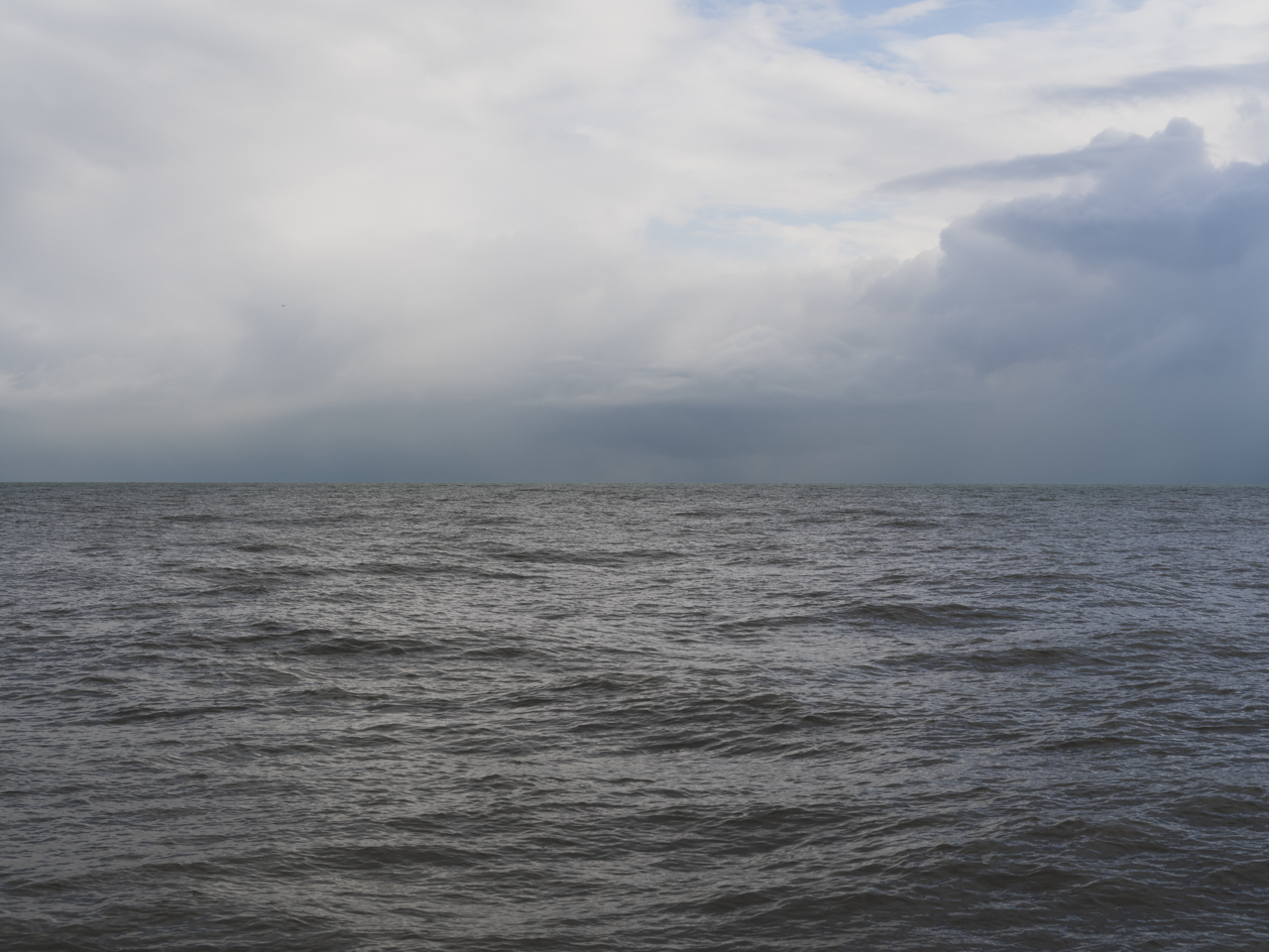 heavy cloud cover on Lake Michigan