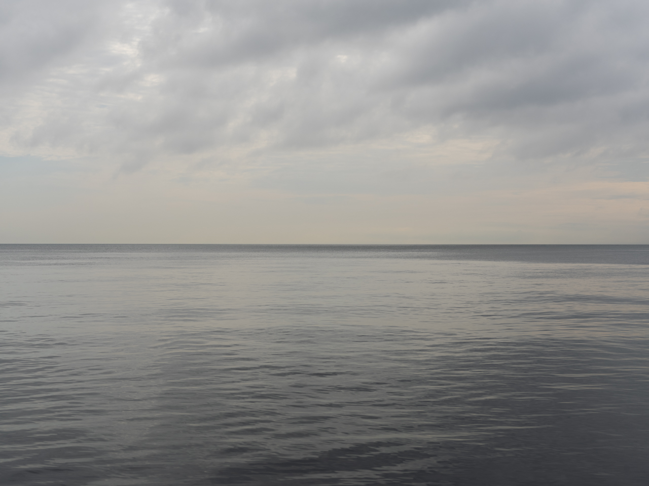 a muted and tonally narrow day of browns and grays on Lake Michigan