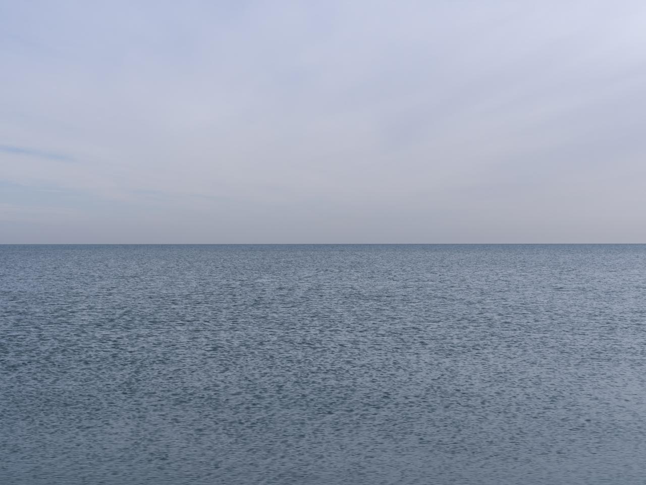 a light gray blue day on Lake Michigan