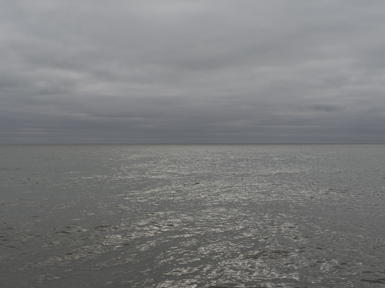 a dark sky and lake in the morning on Lake Michigan