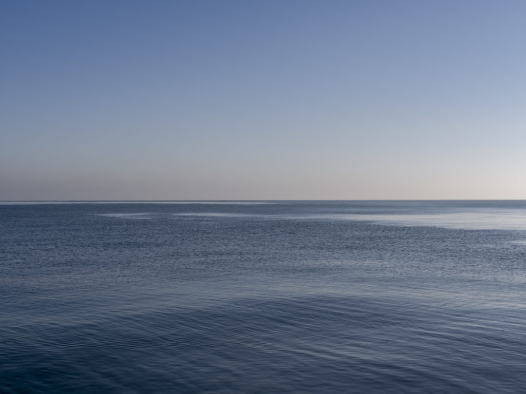 deep blue textural water on a still day on Lake Michigan