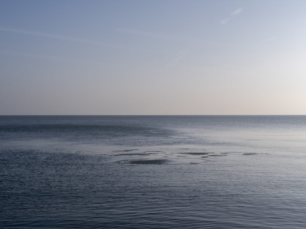 early ice flow on Lake Michigan