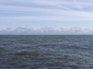 clouds on the horizon of Lake Michigan