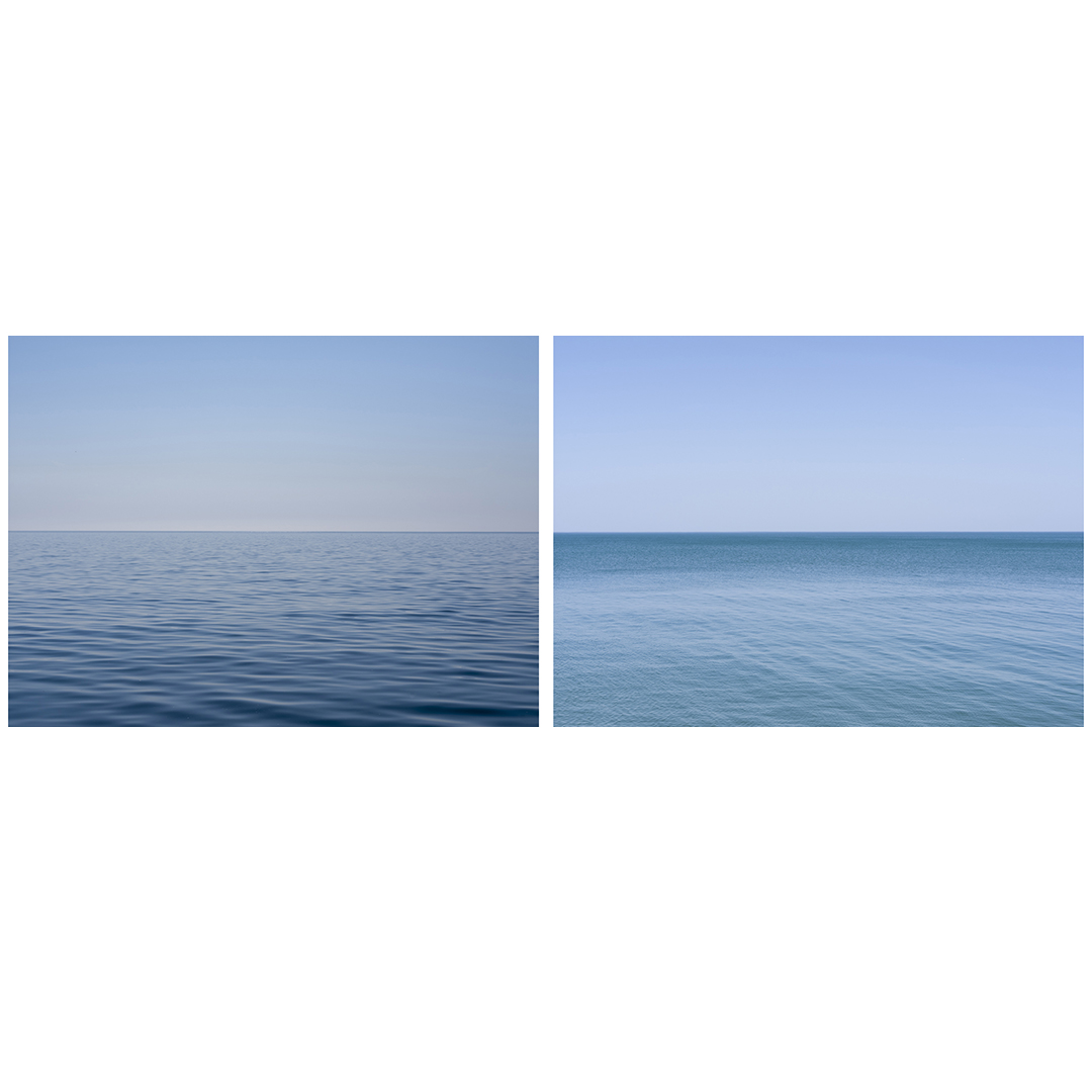 Two summer mornings that exemplify the type of blues that become predominant as the summer continues to progress.