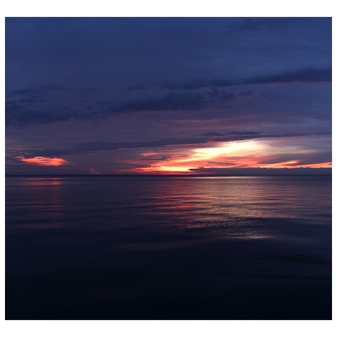 Lake Series Panoramas, May 5th 2016, is a diptych of Lake Michigan as the sun begins to rise early in the morning. This is the first panel.