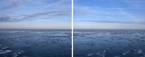 an Icy Blue Lake DIptych from the Lake Series by Lincoln Schatz