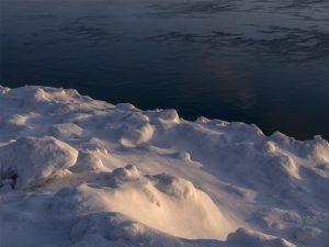 Icy Shores of Lake Michigan