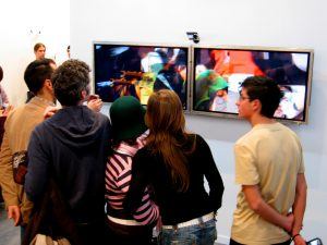 Branch, generative video art by Lincoln Schatz, installed at ARCO Madrid