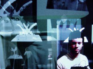 Slice, a generative video artwork installed at Art Basel Miami